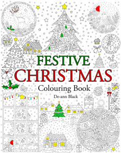 Festive Christmas Colouring Book Cover WEb