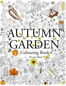 Autumn Garden Colouring Book Cover WEb Flower Hunter