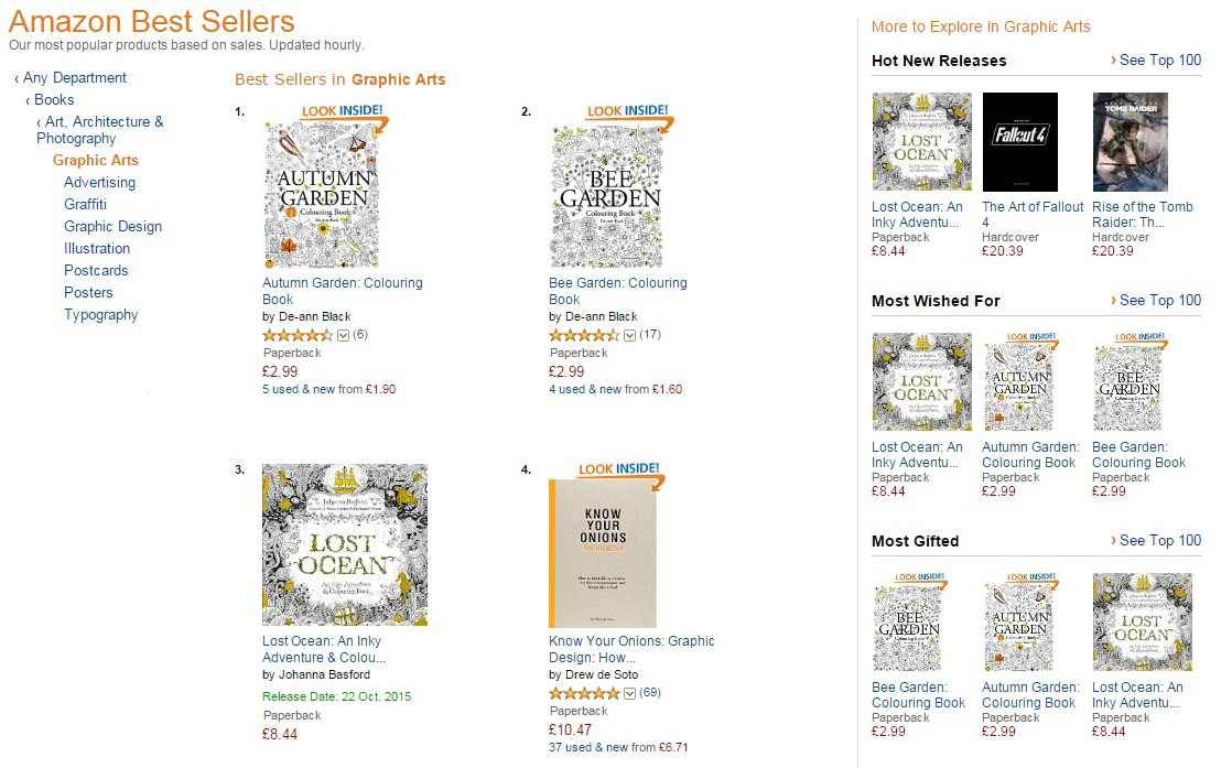 Number 1 Amazon Autumn My Other Colouring Books