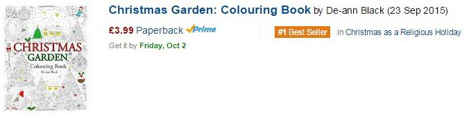 1 Best Seller Colouring Books Amazon UK October 2015