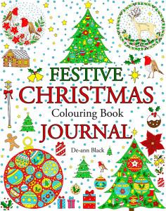 Festive Christmas Colouring Book Journal